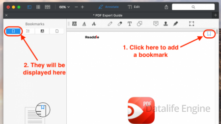 How to add bookmarks to a PDF using PDF Expert for Mac