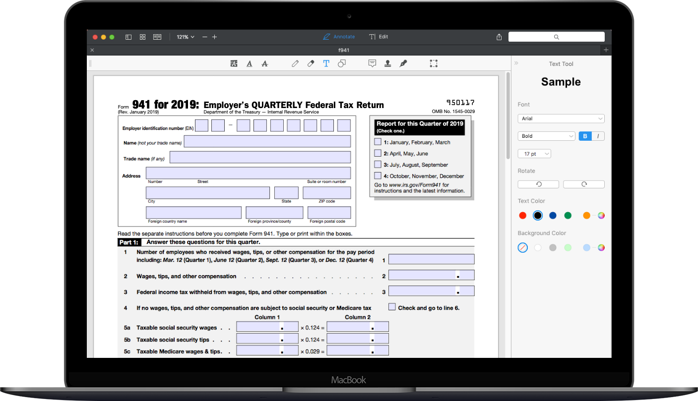 Das IRS-Formular 11 11 ausfüllen | PDF Expert
