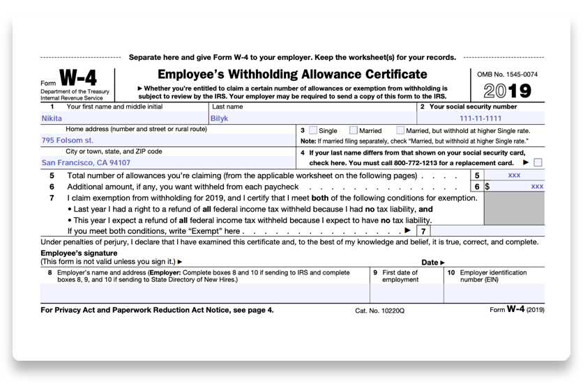 photo about W4 Form Printable referred to as How in the direction of fill out 2018-2019 IRS Type W-4 PDF Guide