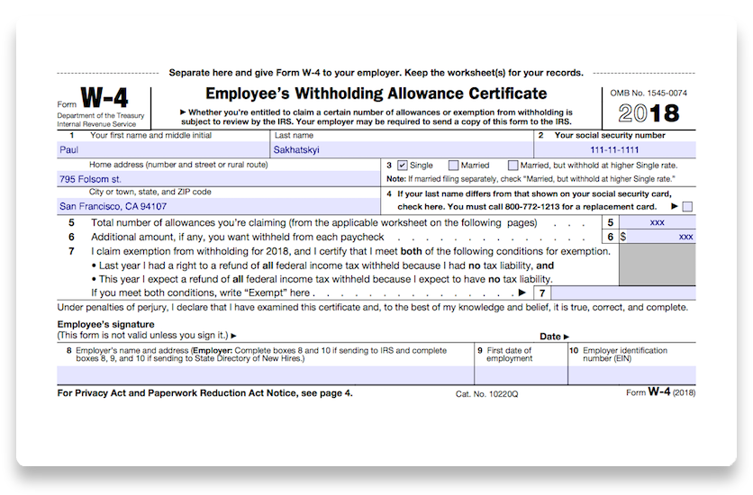 How To Fill Out 2018 Irs Form W 4 Pdf Expert