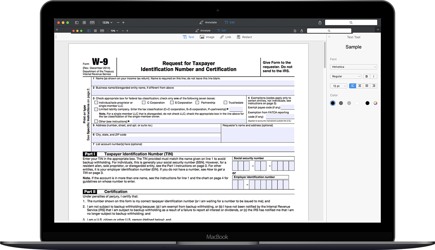 How to fill out irs form w 9 2014 2017 pdf expert form w 9 on macbook falaconquin