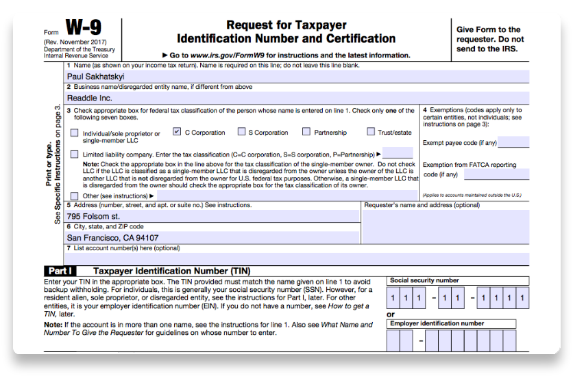 How To Fill Out Irs Form W 9 2017 2018 Pdf Expert