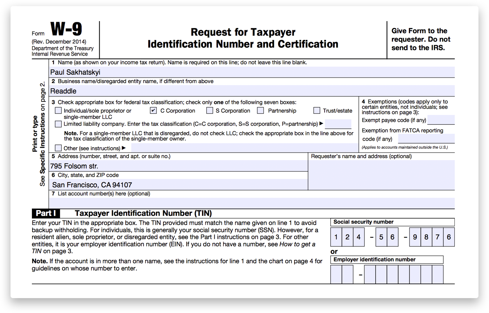 How to fill out irs form w 9 2014 2017 pdf expert as you can see filling out pdf forms with pdf expert is a breeze besides there are several more advantages that you will definitely love falaconquin