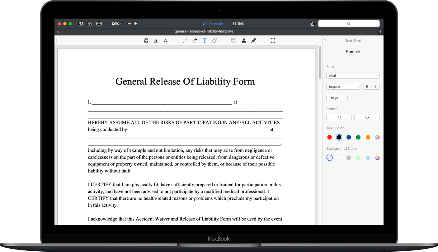 Release Of Liability Ca >> Free Release Of Liability Form Template Download Liability