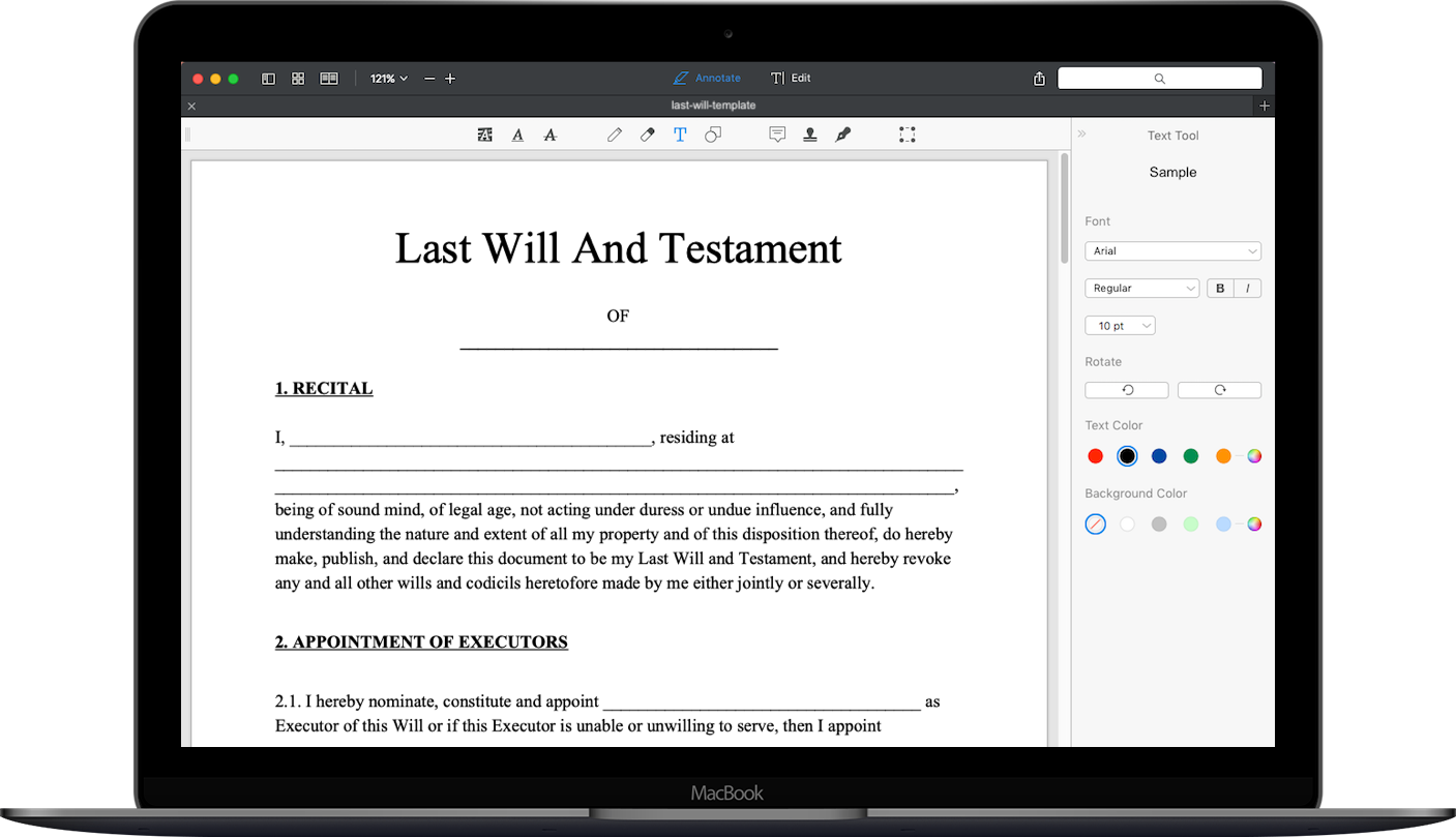 free last will and testament template pdf