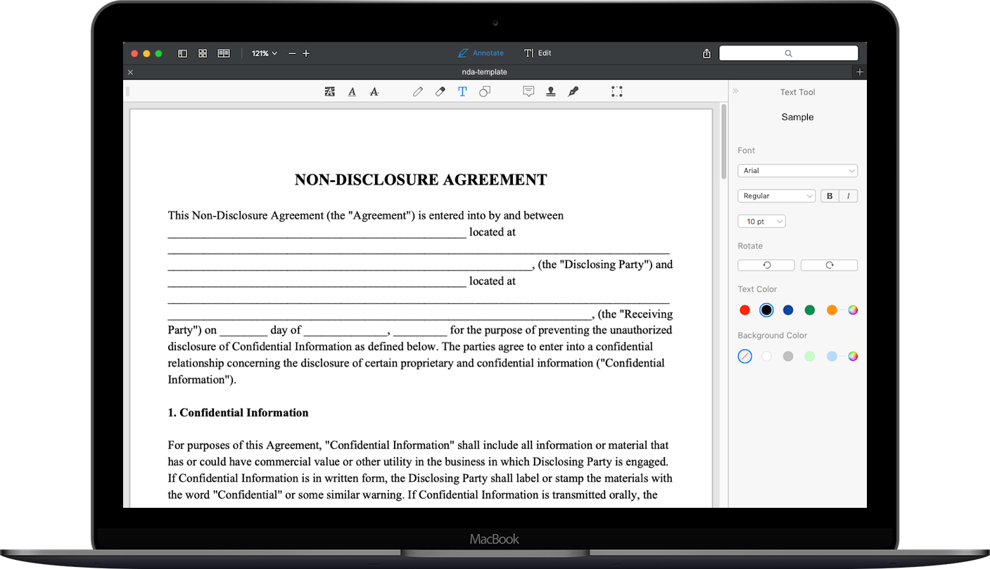 Free Non Disclosure Agreement Download Nda Template Pdf