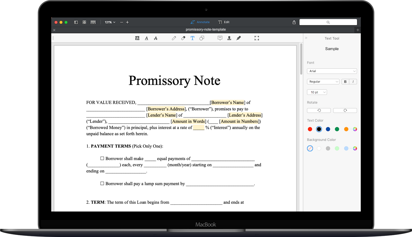 Free Promissory Note Template Download Secured Promissory