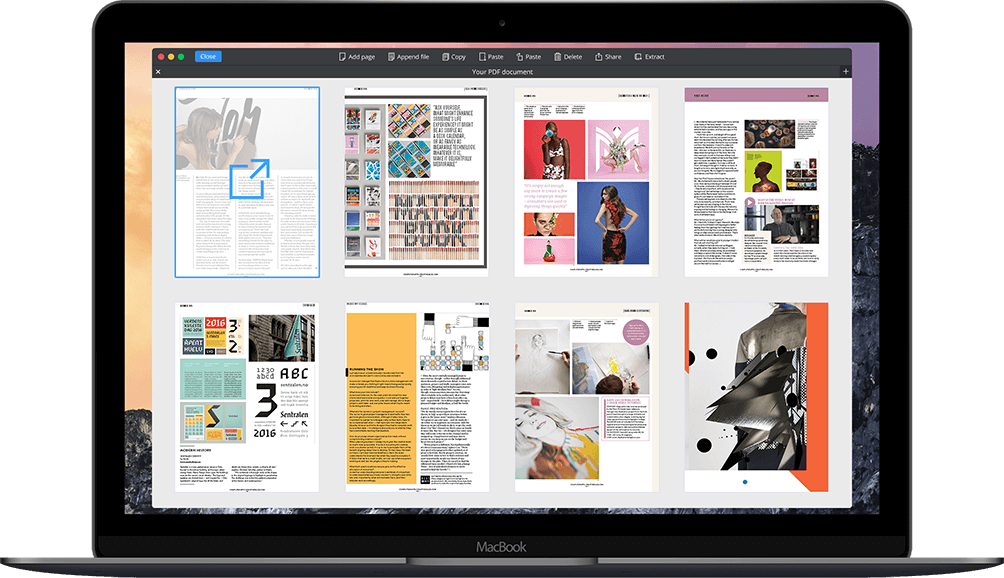 Extract pages from PDF files on macOS
