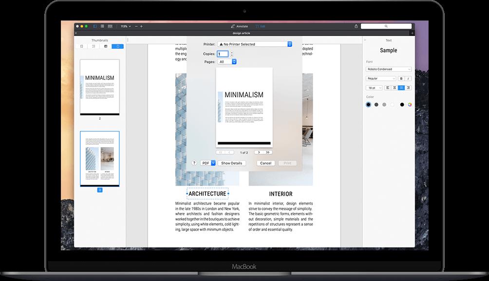 How to print PDF on Mac | PDF Expert