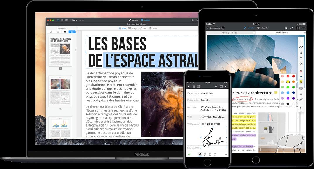 Éditeur PDF pour Mac, iPhone et iPad