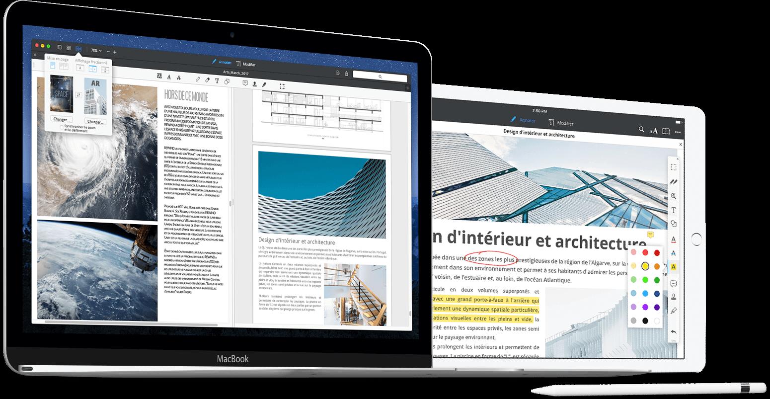 Annoter des PDF et Split View